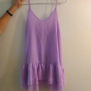Showpo brandy melville style Lavender mini dress